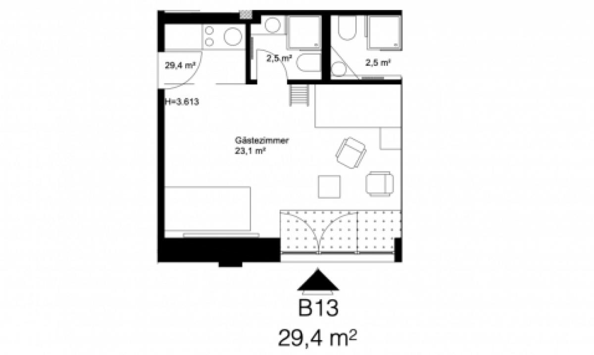 1 Studio Apartment @Cäcilienstraße, Mülheim an der Ruhr